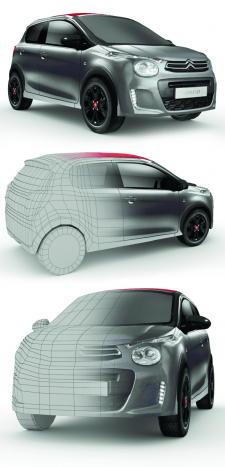 Low poly Citroen C1 Urban Ride