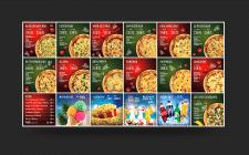 Дизайн меню лайтбокса для пиццерии