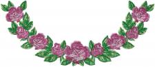 платье с розами ворот
