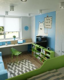 Проект частного дома под Киевом (детская)