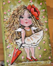 Дівчинка з парасолькою)