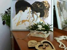 Свадебный портрет в стиле поп-арт