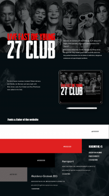 Club 27 (Business card website)