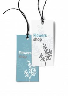 Дизайн бирки  для цветочного  магазина
