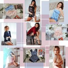 Бесконечная лента для магазина женских пижамок