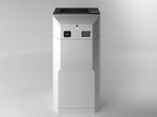 Visualization of a vending machine with a printer