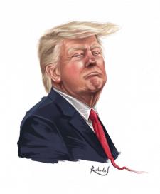 Дональд Трамп, шарж, карикатура