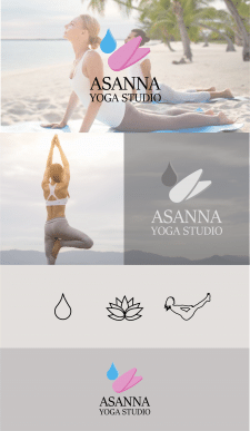 "Logo for yoga center ""Assana"""