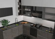 Визуализация современной кухни