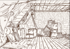Иллюстрация чердака