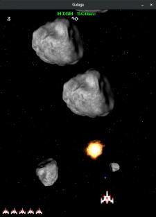 Клон игры Asteroids