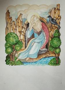 """Ілюстрація """" Пророк Ілля в пустелі"""""""