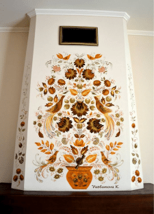 Настенная роспись камина