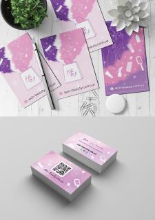 Открытка и визитка для Skin-Beauty