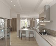 Дизайн Кухни гостиной , столовой