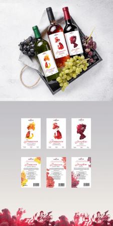 Дизайн этикетки вина для Коблево