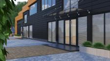 Визуализация фасадов офисного здания