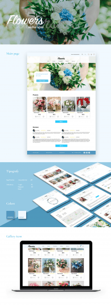 Website Flowers store. Homework.