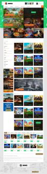 Front-end разработка сайта с онлайн играми.