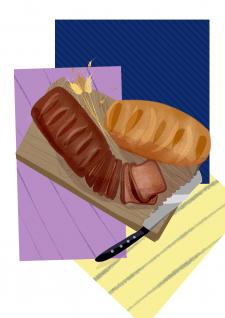 """Иллюстрация """"Хлеб"""""""