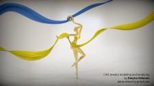Dance Girl , pendant