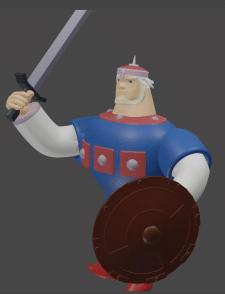 3д модель Добрыни из трех богатырей