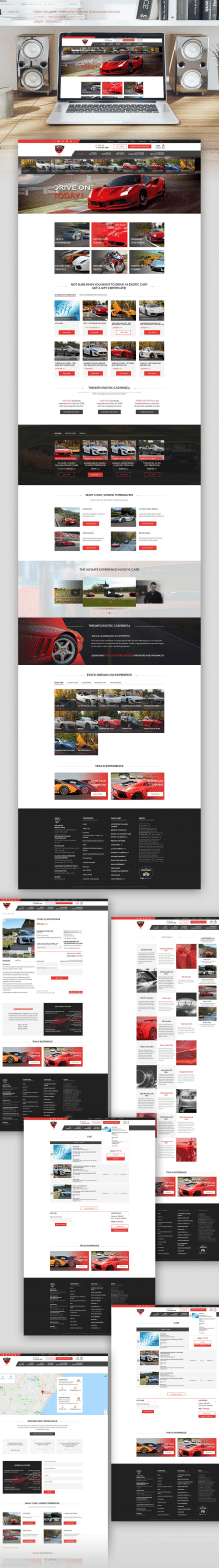 Site for a company for renting sports cars