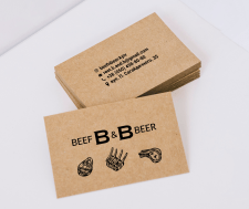 """Визитка """"Beef&Beer"""""""