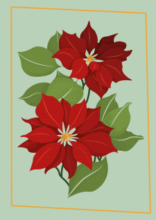 Обложка для рождественской открытки
