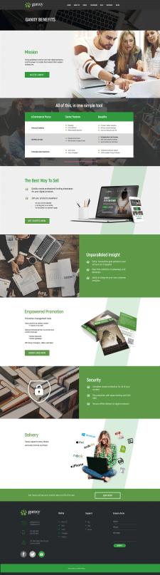 Дизайн страницы преимуществ