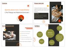 Дизайн презентации для сети франшиз римской пиццы