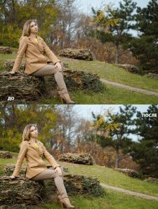 Пример цветокоррекции и ретуши До/После 6