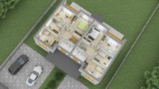 3D планировка дома 2 этаж