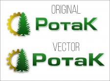Отрисовка в вектор логотипа компании