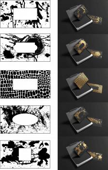 дизайн конверта для ювелирных украшений