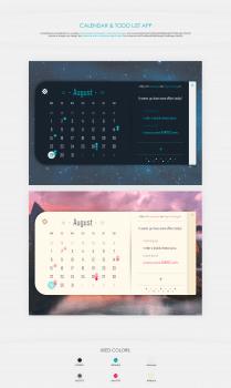 Calendar & todo list app