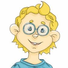 Скетч к персонажу Мальчик в круглых очках
