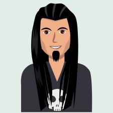 Портрет длинноволосого мужчины