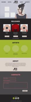 Дизайн сайта для компании Aby Sho Music