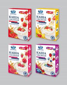 Серия упаковок на каши быстрого приготовления