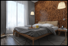 Интерьер спальни в скандинавском стиле г.Харьков