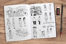 Скетчи, дизайн персонажей и локаций
