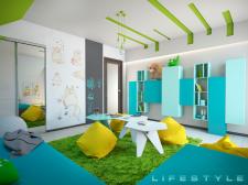 Яскрава та сонячна ігрова кімната