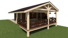 Визуализация проекта бани (вариант №1)