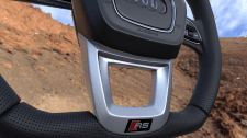 LOW POLY  steering wheel from a car audi q8 2020