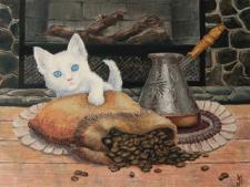 Сooffee cat. Espresso machiato
