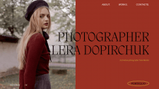 Portfolio website/Photographer Lera Dopirchuk