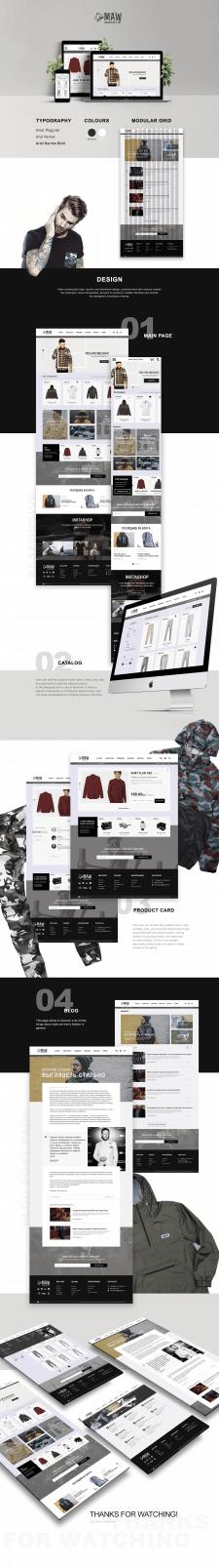 Concept of men's online clothing shop