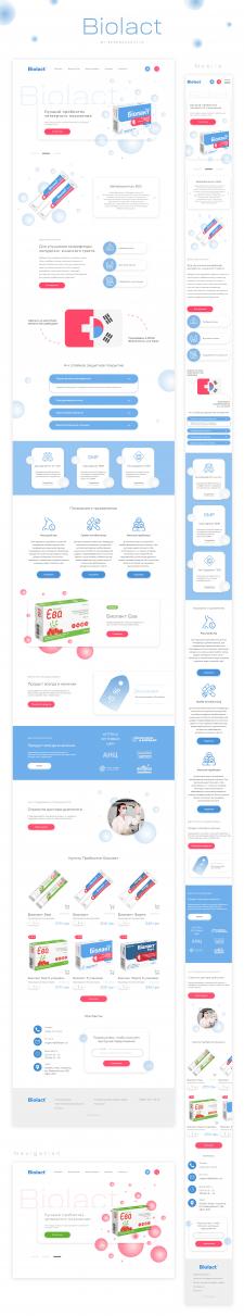 Biolact consept, UI/UX design