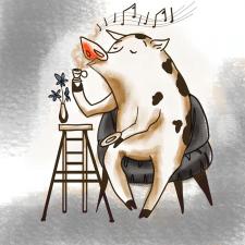 Романтична свиня